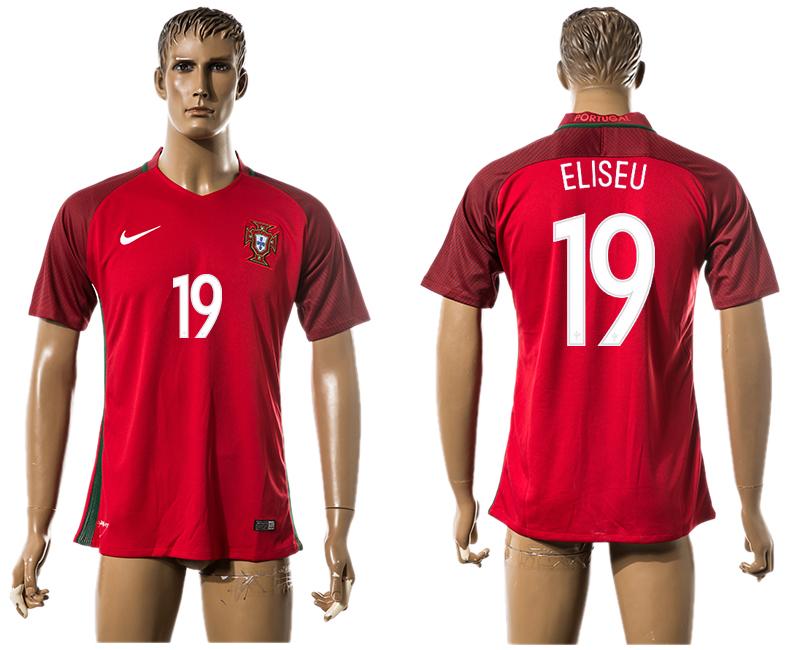 Portugal 19 ELISEU Home UEFA Euro 2016 Thailand Jersey