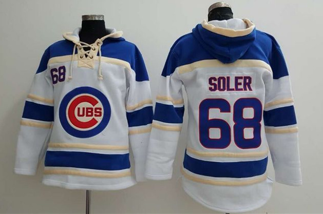 Cubs 68 Jorge Soler White All Stitched Sweatshirt