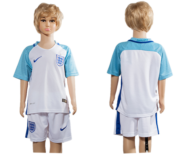 England Home Youth UEFA Euro 2016 Soccer Jersey