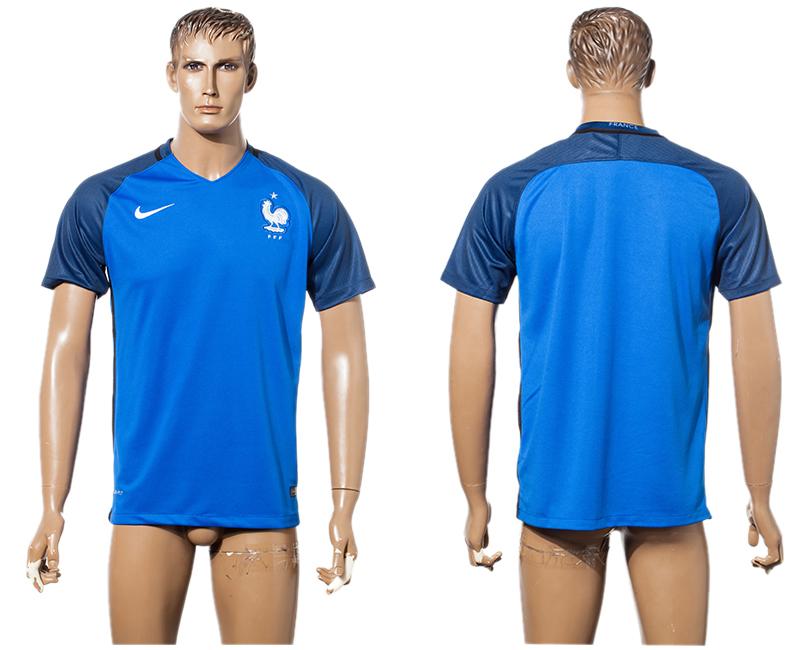 France Home UEFA Euro 2016 Thailand Soccer Jersey