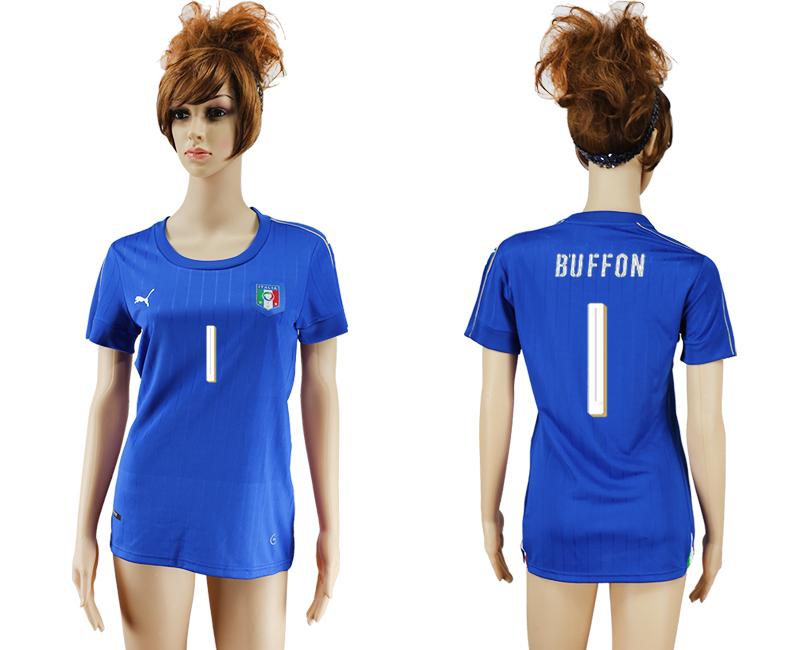 Italy 1 BUFFON Home Women UEFA Euro 2016 Soccer Jersey