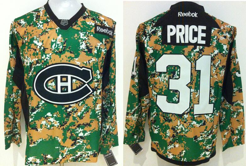 Canadiens 31 Carey Price Digital Camo Veteran's Day Reebok Jersey