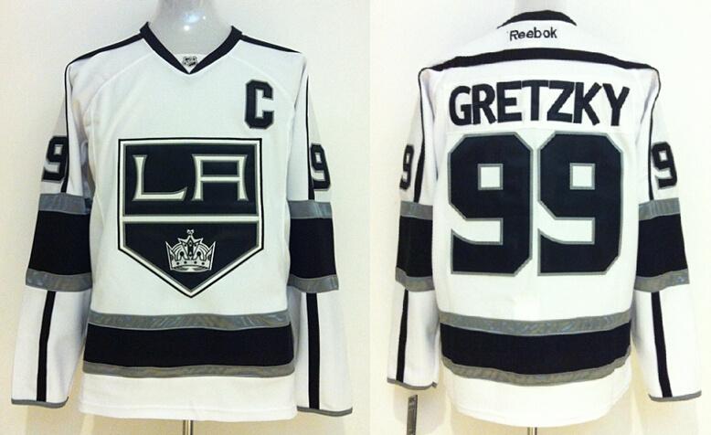 Kings 99 Wayne Gretzky White Reebok Jersey