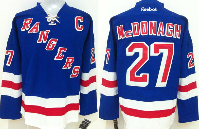 Rangers 27 Ryan Mcdonagh Blue Reebok Jersey