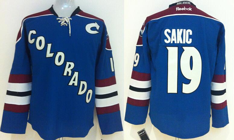 Avalanche 19 Joe Sakic Blue Reebok Jersey