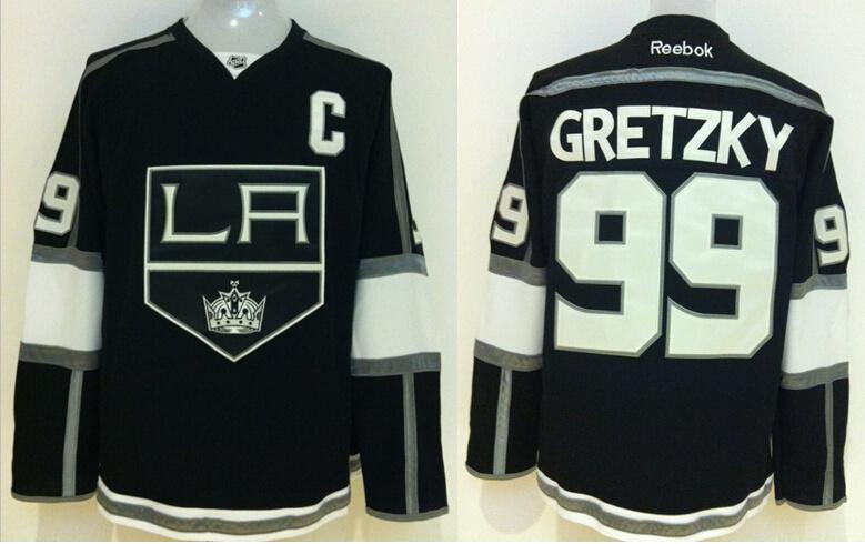 Kings 99 Wayne Gretzky Black Reebok Jersey