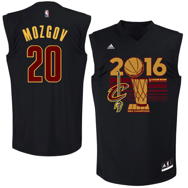 Cavaliers 20 Timofey Mozgov Black 2016 NBA Finals Champions Jersey