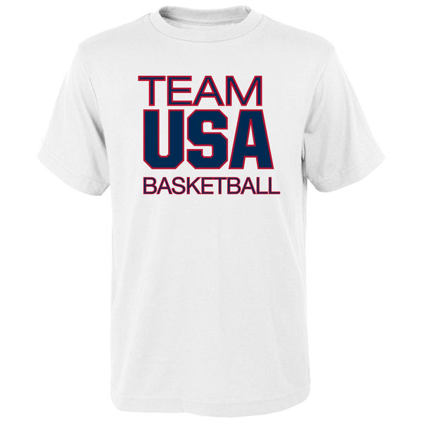 Team USA Basketball Youth Pride for National Governing Body T-Shirt White
