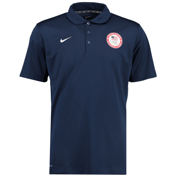 Team USA Nike Varsity Dri FIT Polo Navy