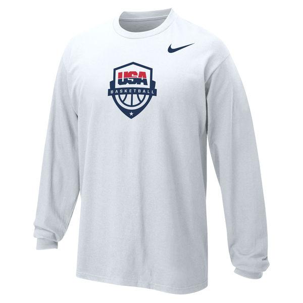 Team USA Nike Youth Basketball Core Long Sleeve T-Shirt White