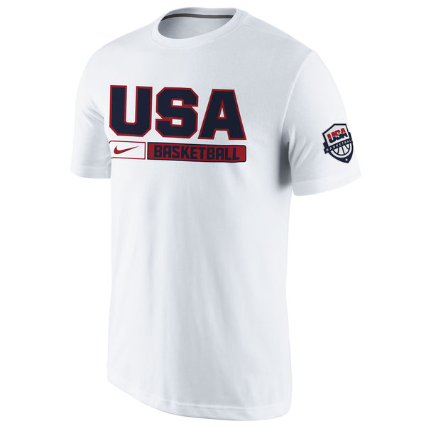 USA Basketball Nike Practice T-Shirt White