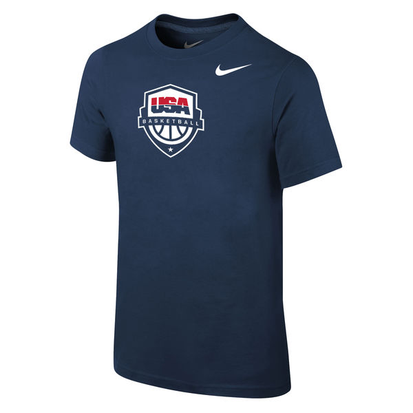 USA Basketball Nike Youth Core T-Shirt Navy