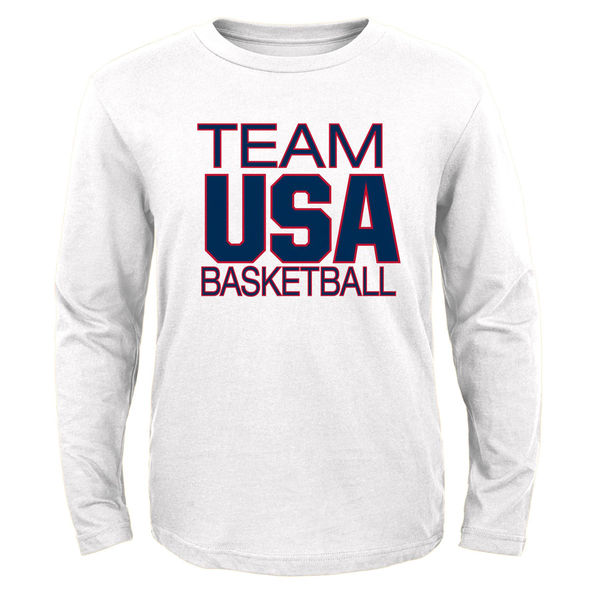USA Basketball Youth Pride Long Sleeve T-Shirt White