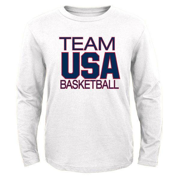 USA Basketball Youth Pride Long Sleeve T-Shirt White