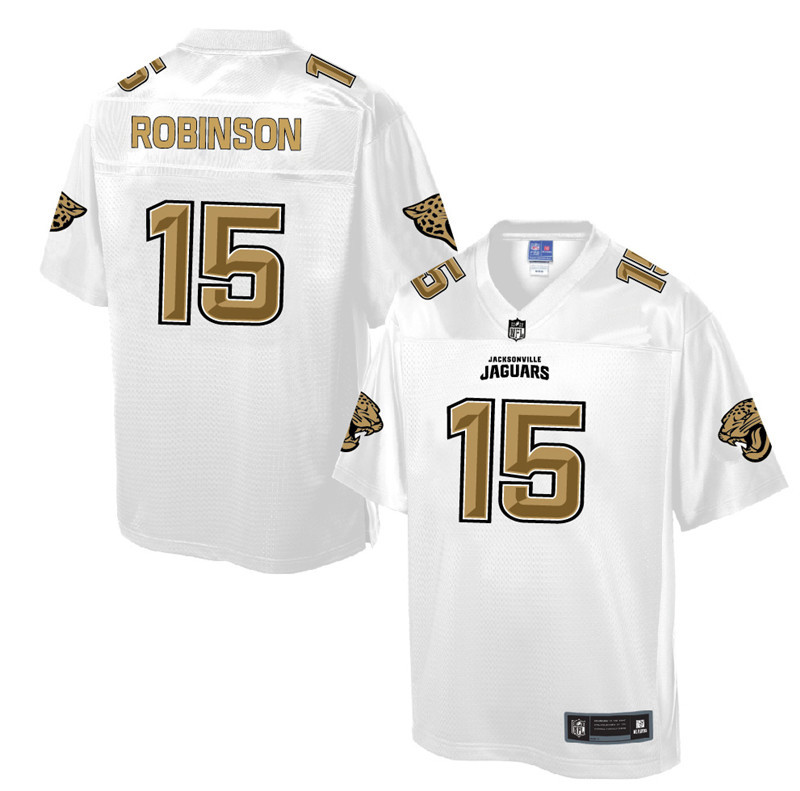 Nike Jaguars 15 Allen Robinson Pro Line White Gold Collection Elite Jersey