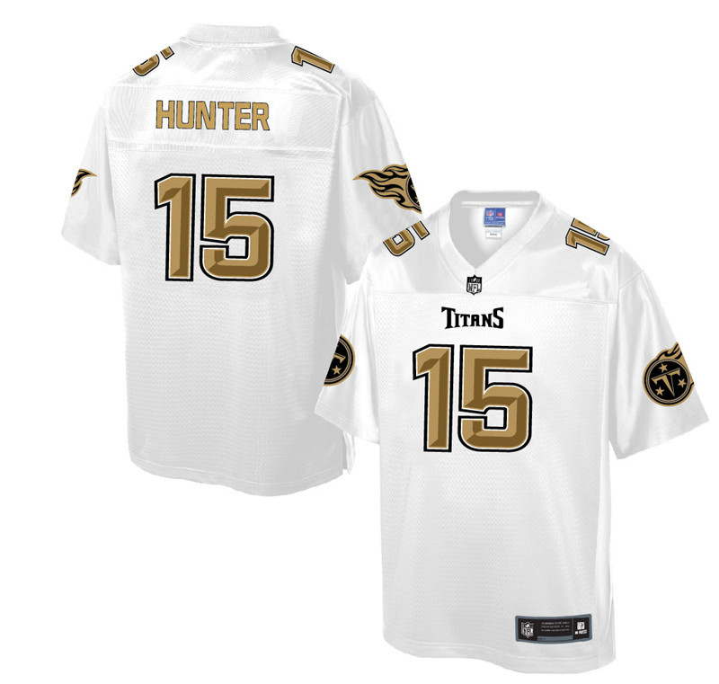 Nike Titans 15 Justin Hunter Pro Line White Gold Collection Elite Jersey