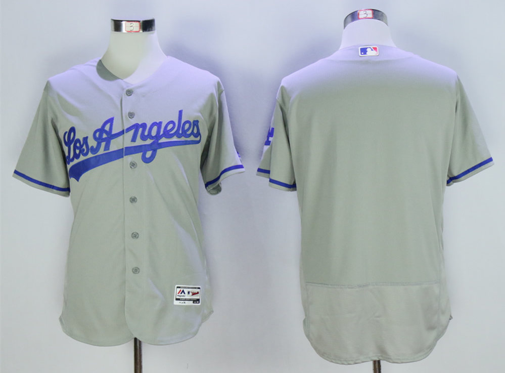 Dodgers Blank Grey Collection Player Flexbase Jersey