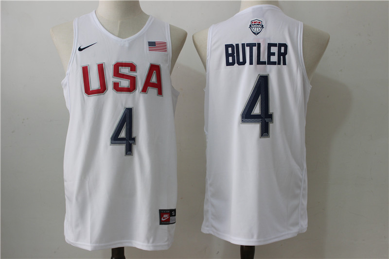 USA Basketball 4 Jimmy Butler White Nike Rio Elite Stitched Jersey
