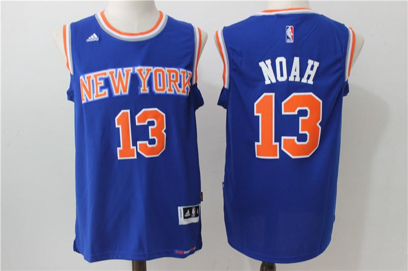 Knicks 13 Joakim Noah Blue Swingman Jersey