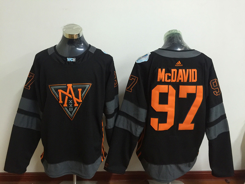 North America 97 Connor McDavid Black World Cup of Hockey 2016 Premier Player Jersey