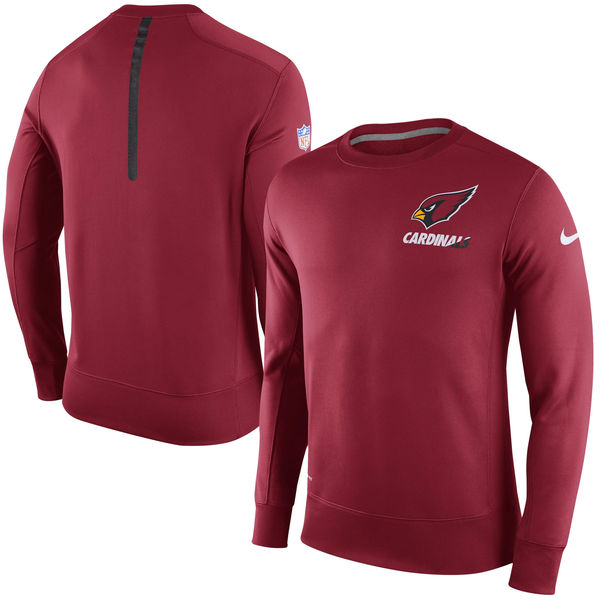 Nike Arizona Cardinals Red 2015 Sideline Crew Fleece Performance Sweatshirt