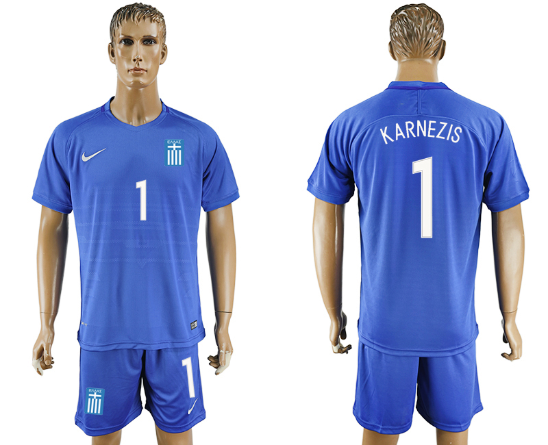 2016-17 Greece 1 KARNEZIS Away Soccer Jersey