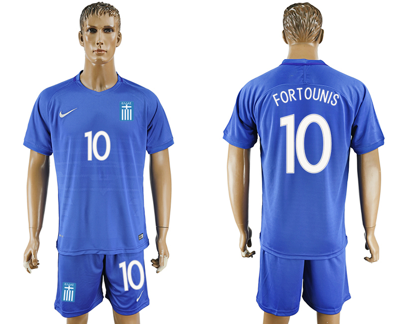 2016-17 Greece 10 FORTOUNIS Away Soccer Jersey