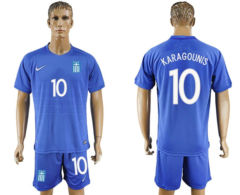 2016-17 Greece 10 KARAGOUNIS Away Soccer Jersey