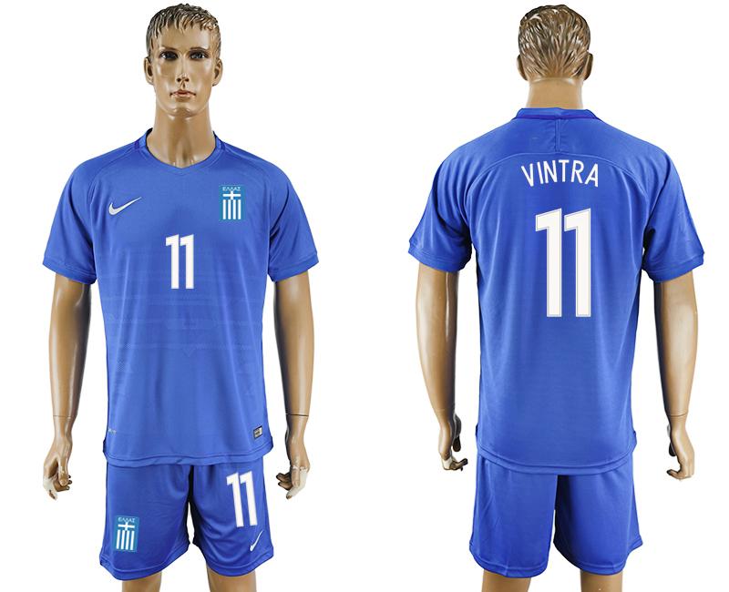 2016-17 Greece 11 VINRA Away Soccer Jersey