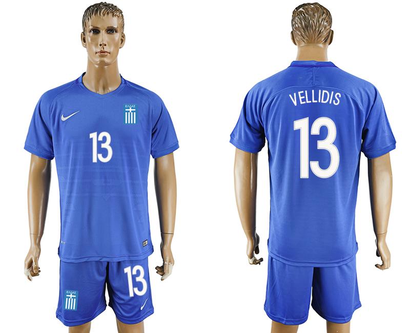 2016-17 Greece 13 VELLIDIS Away Soccer Jersey