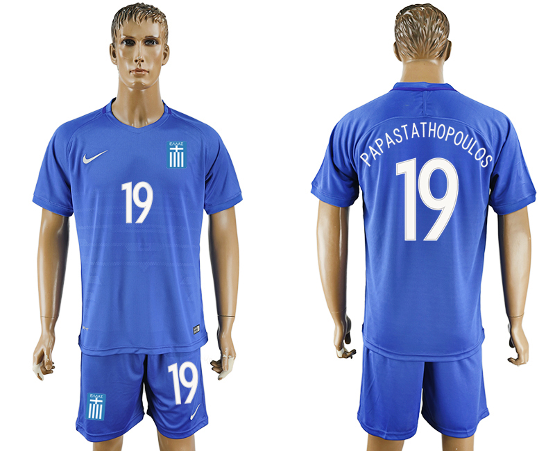 2016-17 Greece 19 PAPASTATHOPOULOS Away Soccer Jersey