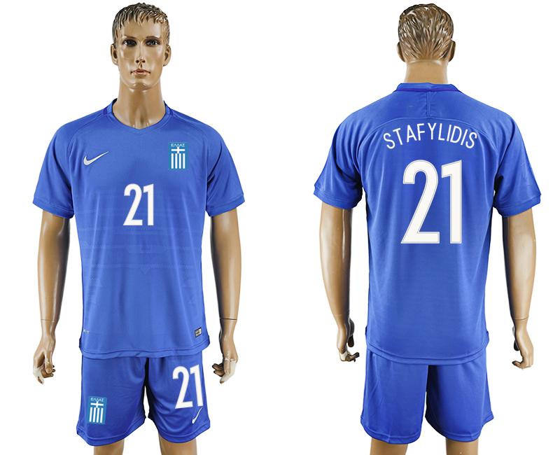 2016-17 Greece 21 STAFYLIDIS Away Soccer Jersey