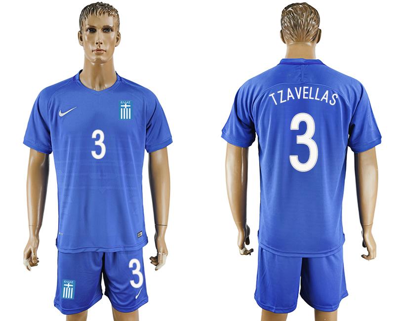 2016-17 Greece 3 TZAVELLAS Away Soccer Jersey