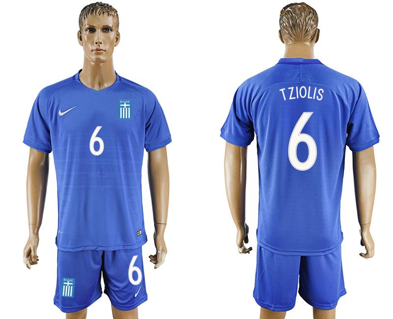 2016-17 Greece 6 TZIOLIS Away Soccer Jersey