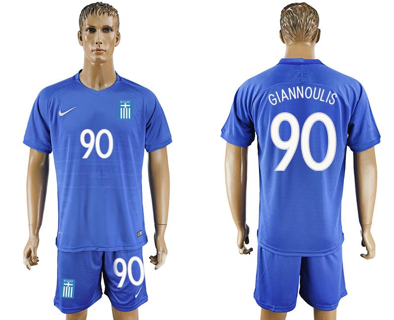 2016-17 Greece 90 GIANNOULIS Away Soccer Jersey