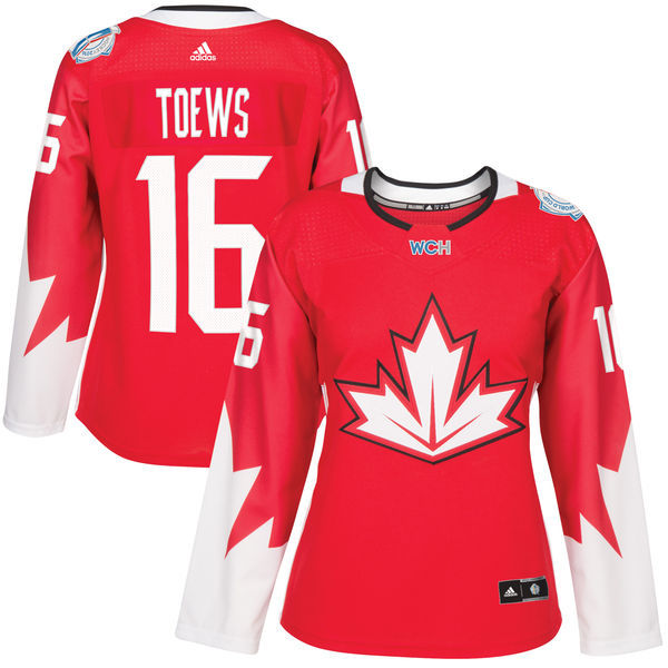 Canada 16 Jonathan Toews Red Women World Cup of Hockey 2016 Player Jersey