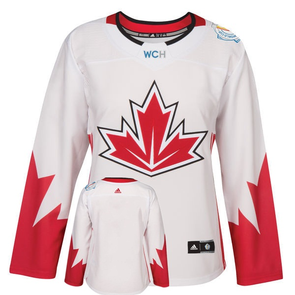 Canada Blank White Women World Cup of Hockey 2016 Player Jersey