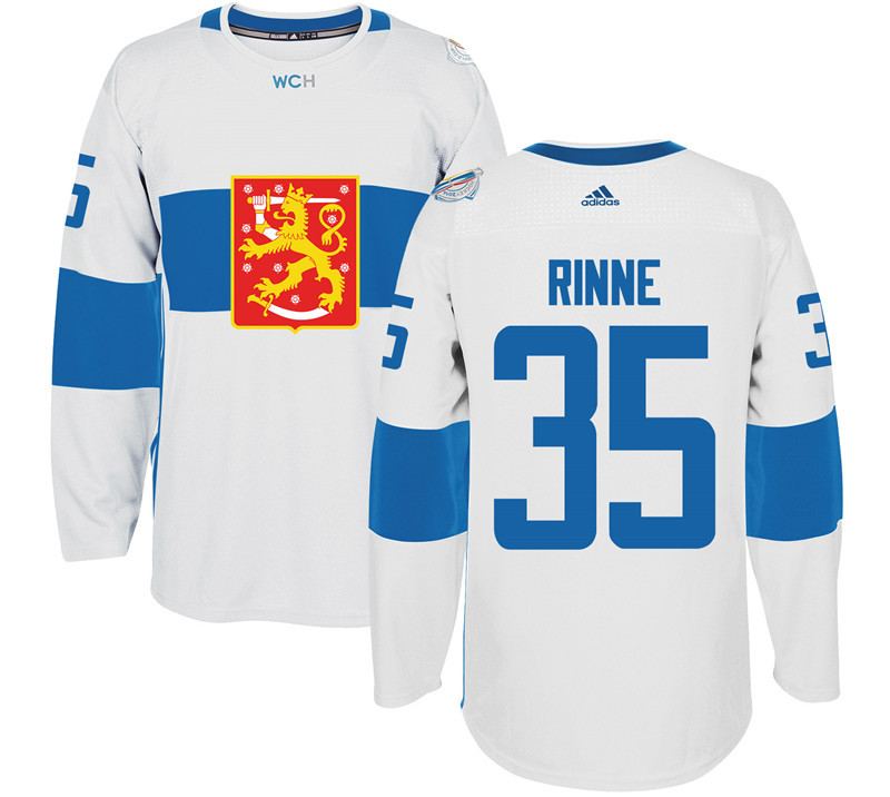 Finland 35 Pekka Rinne White 2016 World Cup Of Hockey Premier Player Jersey