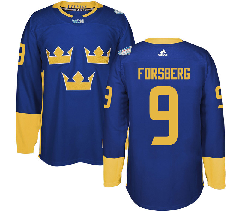Sweden 9 Filip Forsberg Purple 2016 World Cup Of Hockey Premier Player Jersey