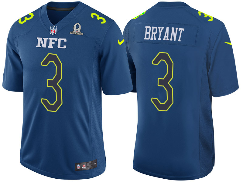 Nike Falcons 3 Matt Bryant Navy 2017 Pro Bowl Game Jersey