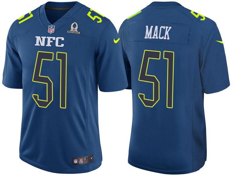 Nike Falcons 51 Alex Mack Navy 2017 Pro Bowl Game Jersey