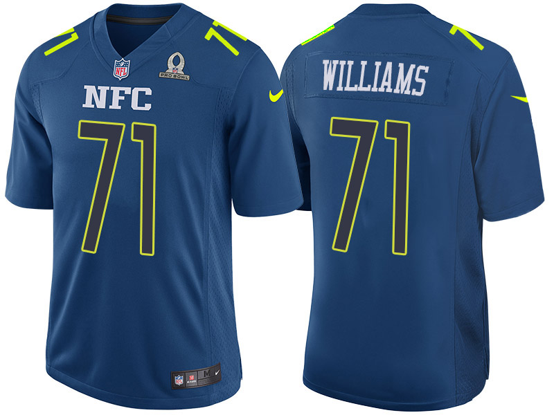 Nike Redskins 71 Trent Williams Navy 2017 Pro Bowl Game Jersey