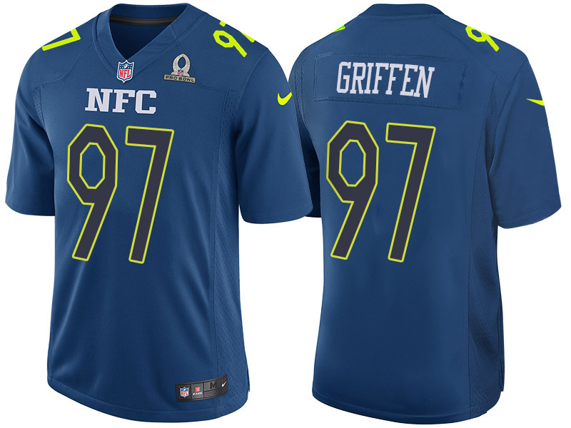 Nike Seahawks 97 Everson Griffen Navy 2017 Pro Bowl Game Jersey