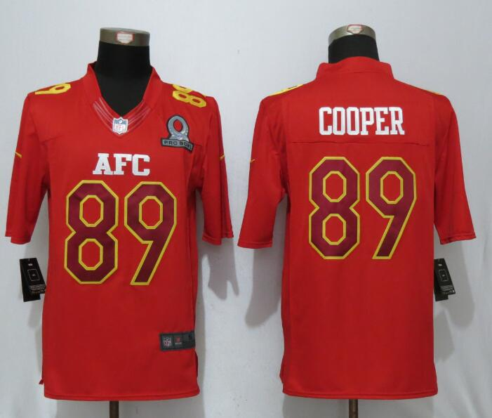 Nike Raiders 89 Amari Cooper Red 2017 Pro Bowl Limited Jersey