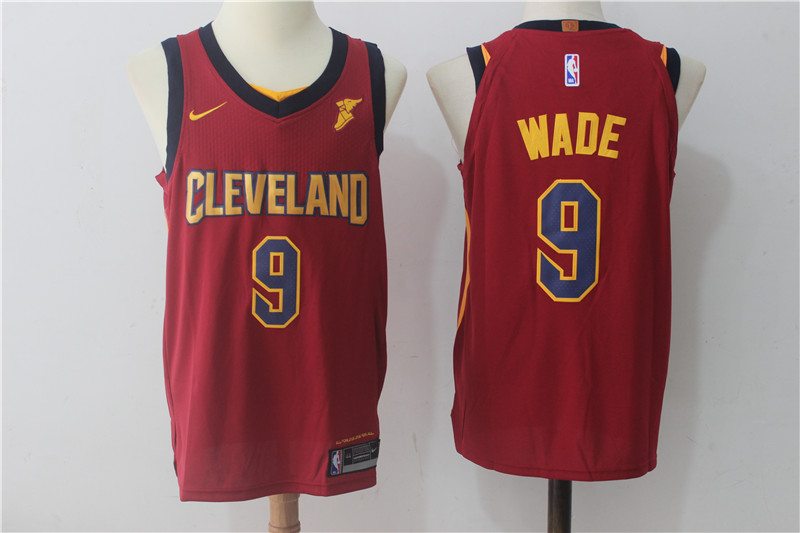Cavaliers 9 Dwyane Wade Maroon Nike Authentic Jersey