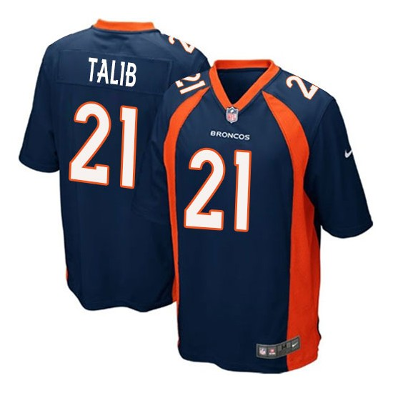 Nike Broncos 21 Aqib Talib Navy Youth Game Jersey