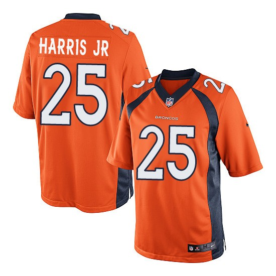 Nike Broncos 25 Chris Harris Jr Orange Youth Game Jersey