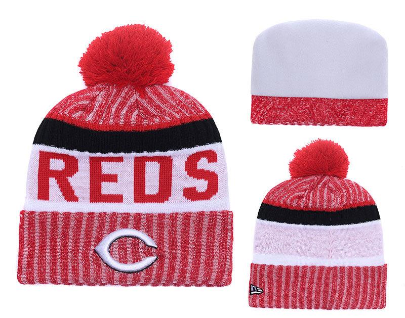 Reds Team Logo Knit Hat YD