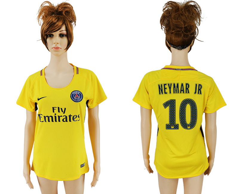 2017-18 Paris Saint-Germain 10 NEYMAR JR Away Women Thailand Soccer Jersey