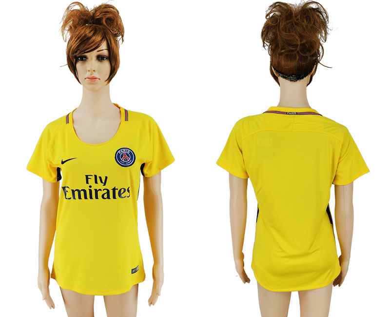 2017-18 Paris Saint-Germain Away Women Thailand Soccer Jersey
